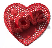 Love on a Doily Royalty Free Stock Image
