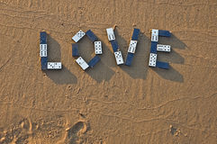 Love from a domino Stock Photography