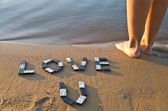 Love from a domino Stock Image