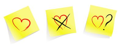 Love / don't love / do you love me? vector illustration