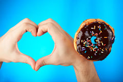 Love for donuts Royalty Free Stock Photography