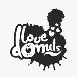 Love Donuts in an Ink Blot Stock Photos