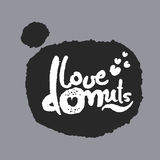 Love Donuts in a Speech Bubble Royalty Free Stock Photos