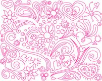 Love doodle Royalty Free Stock Image