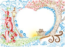Love Doodle Stock Images