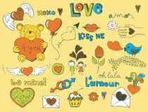 Love doodle Stock Photos