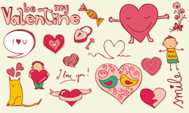 Love doodle Stock Image