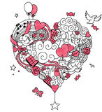 Love Doodle 2 Royalty Free Stock Photos