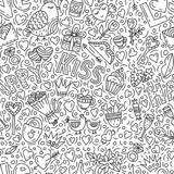 Love doodle pattern vector illustration