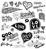 Love doodle. Solated On White Background, Vector Illustration Royalty Free Stock Photography