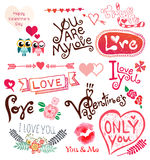 Love doodle. Solated On White Background, Vector Illustration Stock Photo