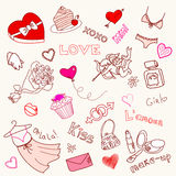 LOVE doodles Stock Photography