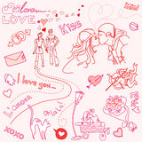 LOVE doodles Stock Photo