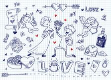 Love doodles Royalty Free Stock Photos