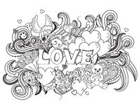 Love doodles background Stock Images