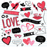 Love doodles vector illustration