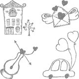 Love doodles. Stock Image