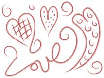 Love Doodles Stock Images