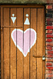 Love door Royalty Free Stock Photos