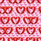 Love doube love red pink seamless pattern. This illustration is design abstract isolated love lonely finding pair and double loves sweet in full of pink loves Stock Image