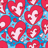 Love double hug sky fly seamless pattern Stock Images