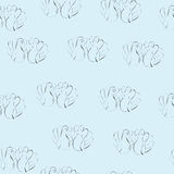 Love doves seampless pattern Stock Photography