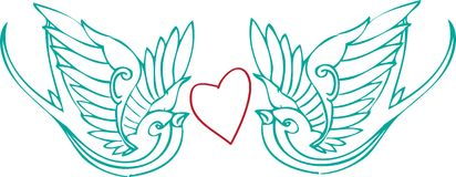 Love Doves Stock Images