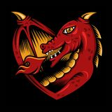 Love dragon vector designs illustration royalty free illustration