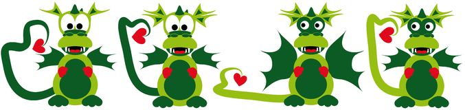 Love dragons Stock Image