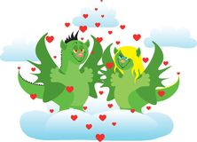 In love dragons Royalty Free Stock Photography