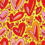 Love draw background seamless pattern Stock Photo