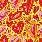 Love draw background seamless pattern Stock Photo