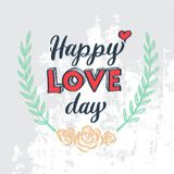 Love drawing 3D style. With heart arrow. Vector illustration for love concept wedding and valentine Stock Image