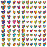 100 Love drawing set Stock Image
