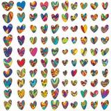 100 Love drawing set Stock Image