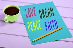 Love Dream Peace Faith Royalty Free Stock Photo