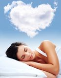Love dreams royalty free stock photography