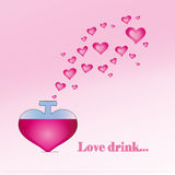 Love drink Royalty Free Stock Photos
