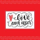Love each other vector illustration