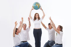 We love the earth Stock Photography