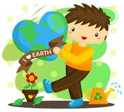 Love Earth Boy Stock Images