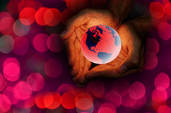 Love the earth concept Royalty Free Stock Image