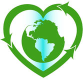 Love Earth eco oriented sign Royalty Free Stock Photography