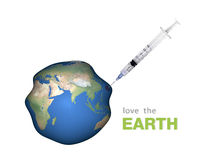 Love the Earth and the greenhouse effect Royalty Free Stock Photography