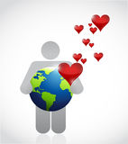 Love the earth illustration design. Over a white background Royalty Free Stock Image