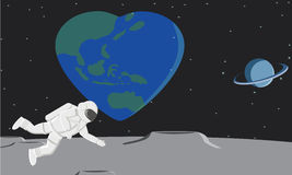 Love earth. So many love in our earth Stock Photo