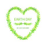 We love Earth. Stock Photo