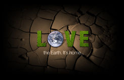 Love the Earth poster Royalty Free Stock Images