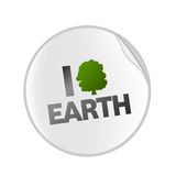 Love earth sticket royalty free illustration