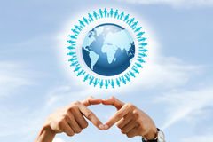 Love the earth. World Population Day love and save the earth stock images